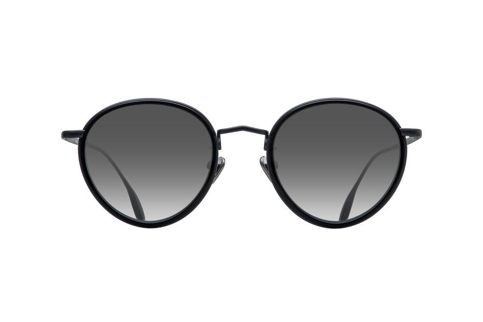CONSTELLATION  - BLACK VOLCANIC METAL DALLOZ FLAT SILVER MIRROR LENSES