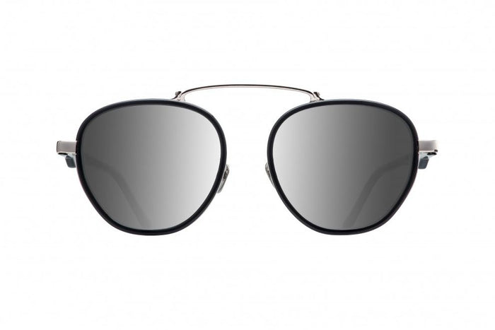 WILD BUNCH BLACK WHITE GOLD DALLOZ FLAT SILVER MIRROR LENSES