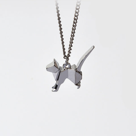 Origami cat necklace the deal nut origami cat necklace aloadofball Images