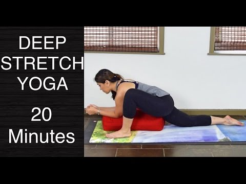 Deep Stretch and Restorative Yoga with a Bolster - 20 Minutes