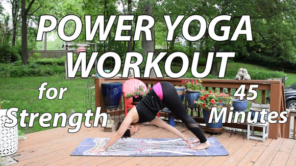 Power Yoga Workout for Strength - 45 Minutes