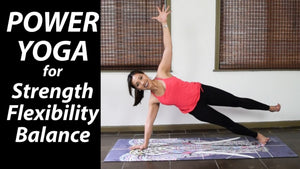 Power Vinyasa Yoga for Strength Flexibility Balance - 55 Minutes