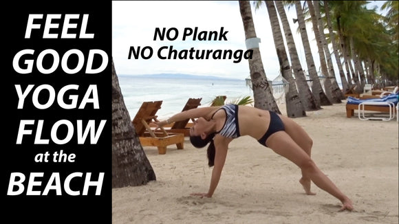 Feel Good Beach Yoga Flow: Plank-Free & Chaturanga-Free (12 Minutes)