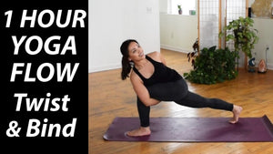 1 Hour Vinyasa Flow Yoga | Twist & Bind | Strong Beginners & Intermediate