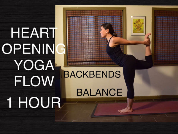 Intermediate Heart Opening Vinyasa Flow Yoga - 60 Minutes