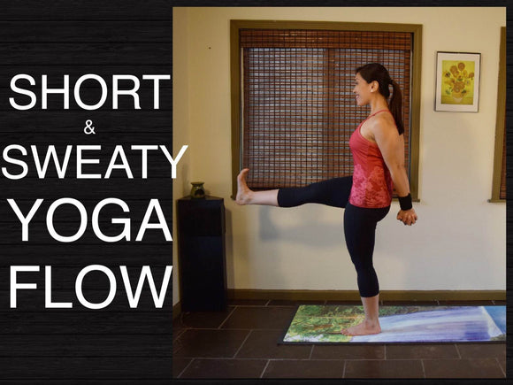 Short and Sweaty Intermediate Vinyasa Flow Yoga - 30 Minutes (Standing Poses)