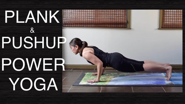 Plank & Pushup Power Vinyasa Yoga for Strength - 25 Minutes