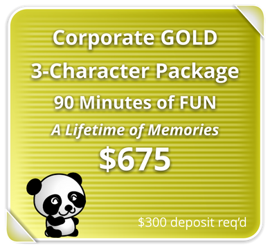 Corporate GOLD Package for 3-Characters