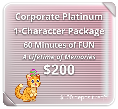 Corporate PLATINUM Package for 1 Character