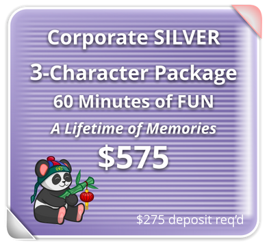 Corporate SILVER Package for 3-Characters