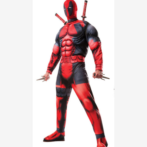 Red & Black Suit Superhero