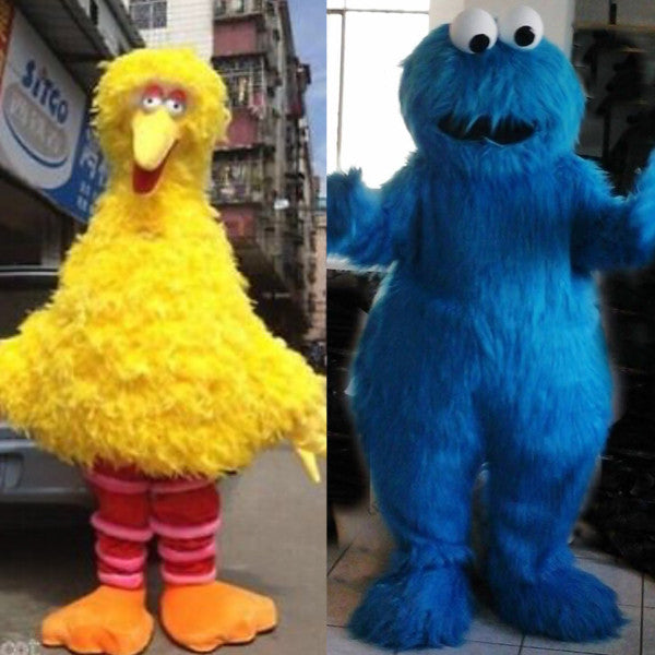 Big Bird and Cookie Monster