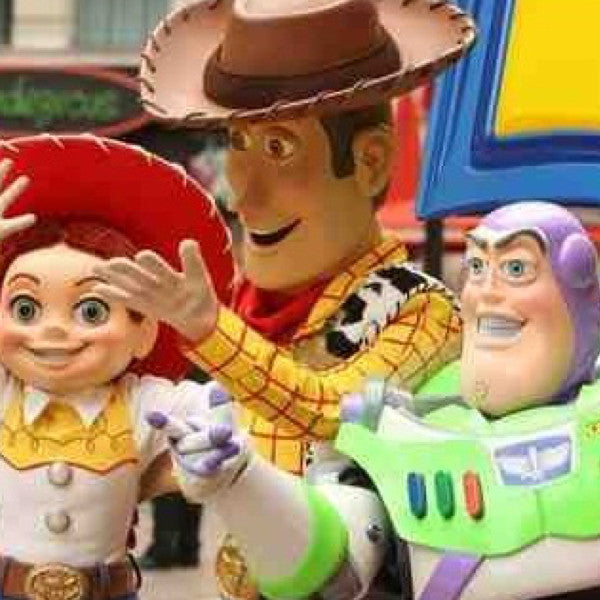 Toy Cowboy, Cowgirl and Astronaut
