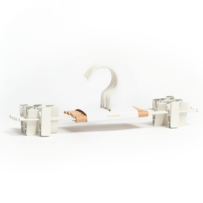 Mustard Made Adult Clip Hanger in White