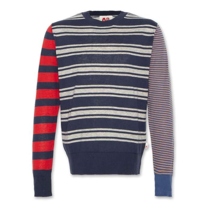 AO76 Striped C-Neck Jumper