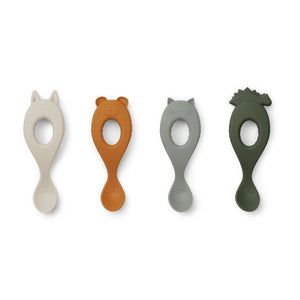 Liewood Liva Silicone Spoon 4-pack
