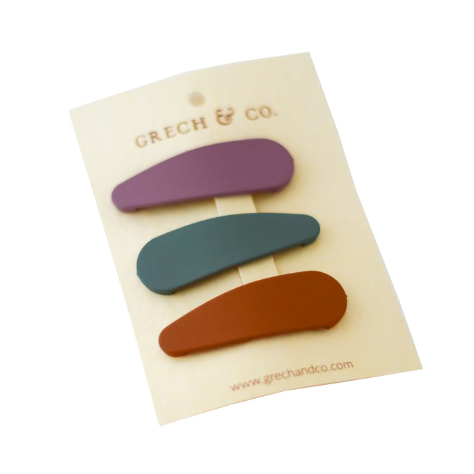 Grech & Co. Snap Matte Clip Set of 3