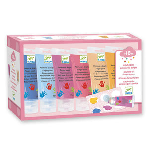Djeco 6 Colour Finger Paint Tubes