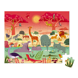 Janod Puzzle Animal Reserve - 54pcs