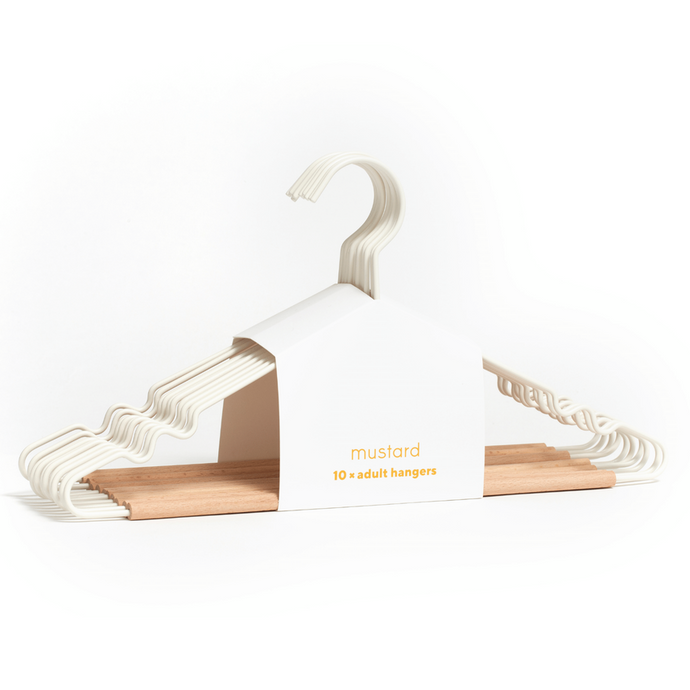 Mustard Made Adult Top Hanger in White
