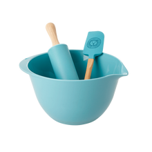 Load image into Gallery viewer, Rice Kids Baking Set in Blue with Lion Head