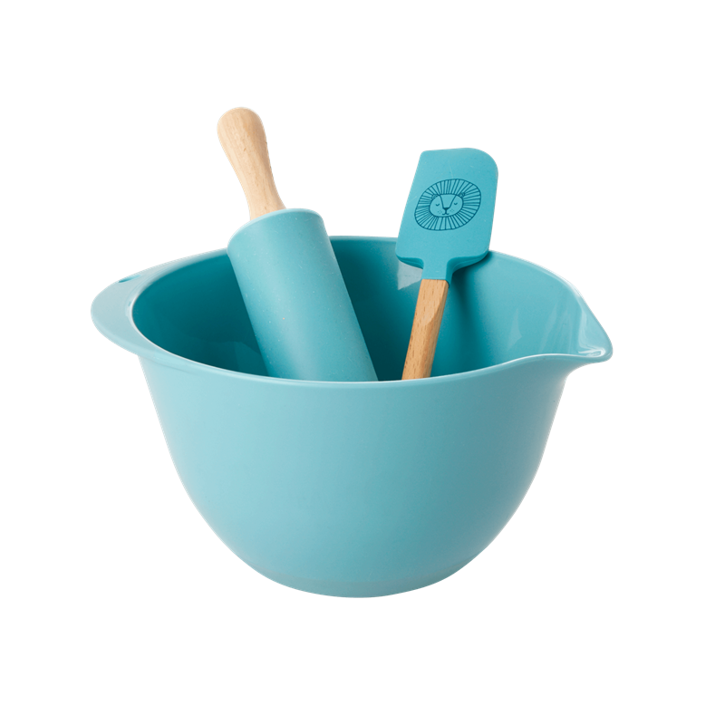 Rice Kids Baking Set in Blue with Lion Head