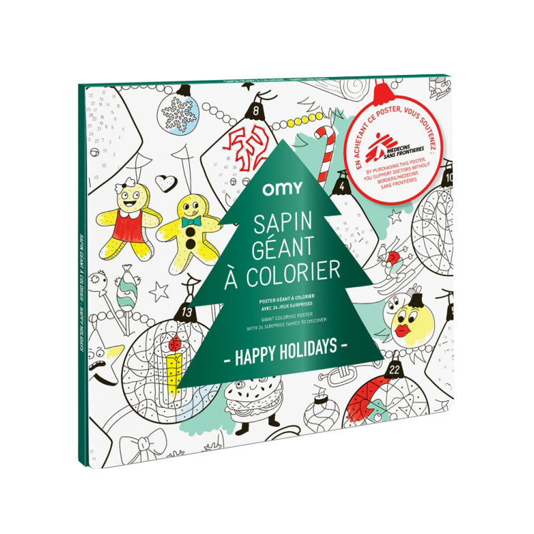 Omy Christmas Giant Colouring Poster