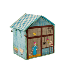 Load image into Gallery viewer, RICE Raffia Toy Basket Farm House Theme