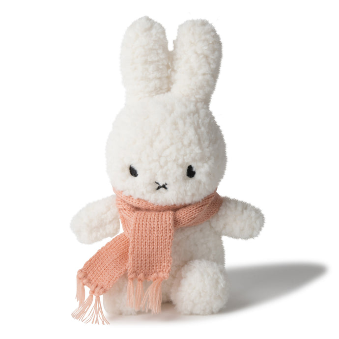 Miffy Sitting Popcorn With Peach Scarf