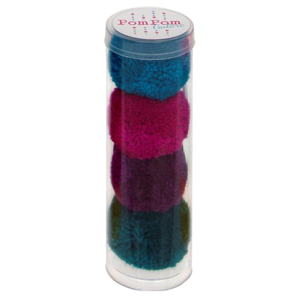 PomPom Galore Tube of x4 Hair Bobbles