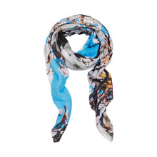 Load image into Gallery viewer, A.T London Blue Cherry Blossom Ninja Scarf