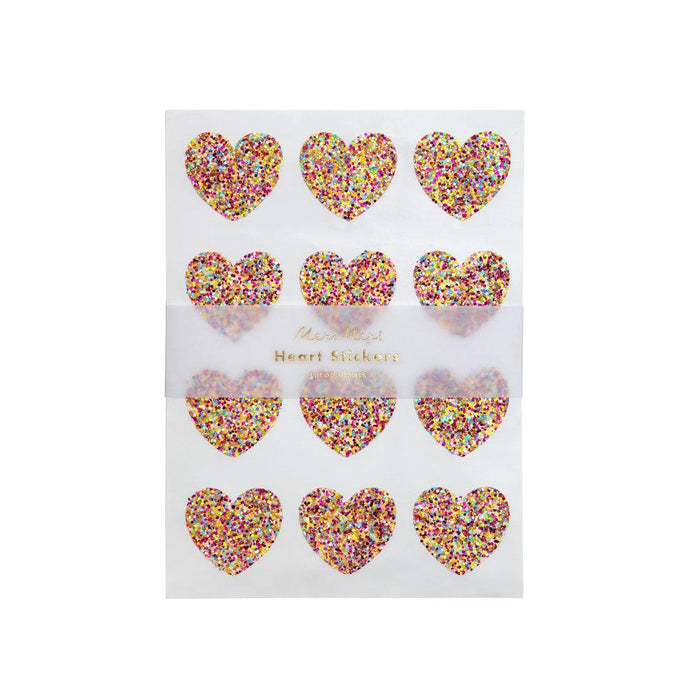 Meri Meri Glitter Heart Sticker Sheets