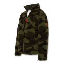 Load image into Gallery viewer, AO76 Camo Teddy Zip-Up