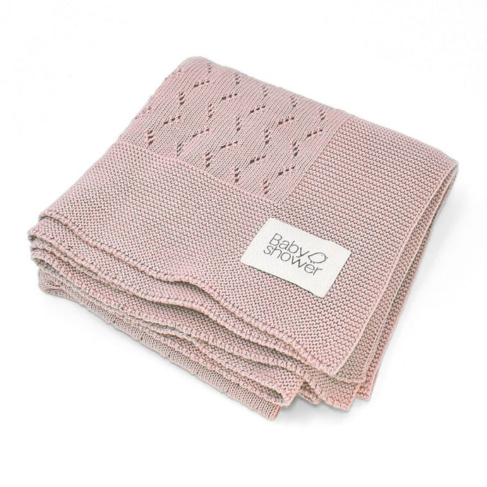 Baby Shower Tricot Rose Blanket