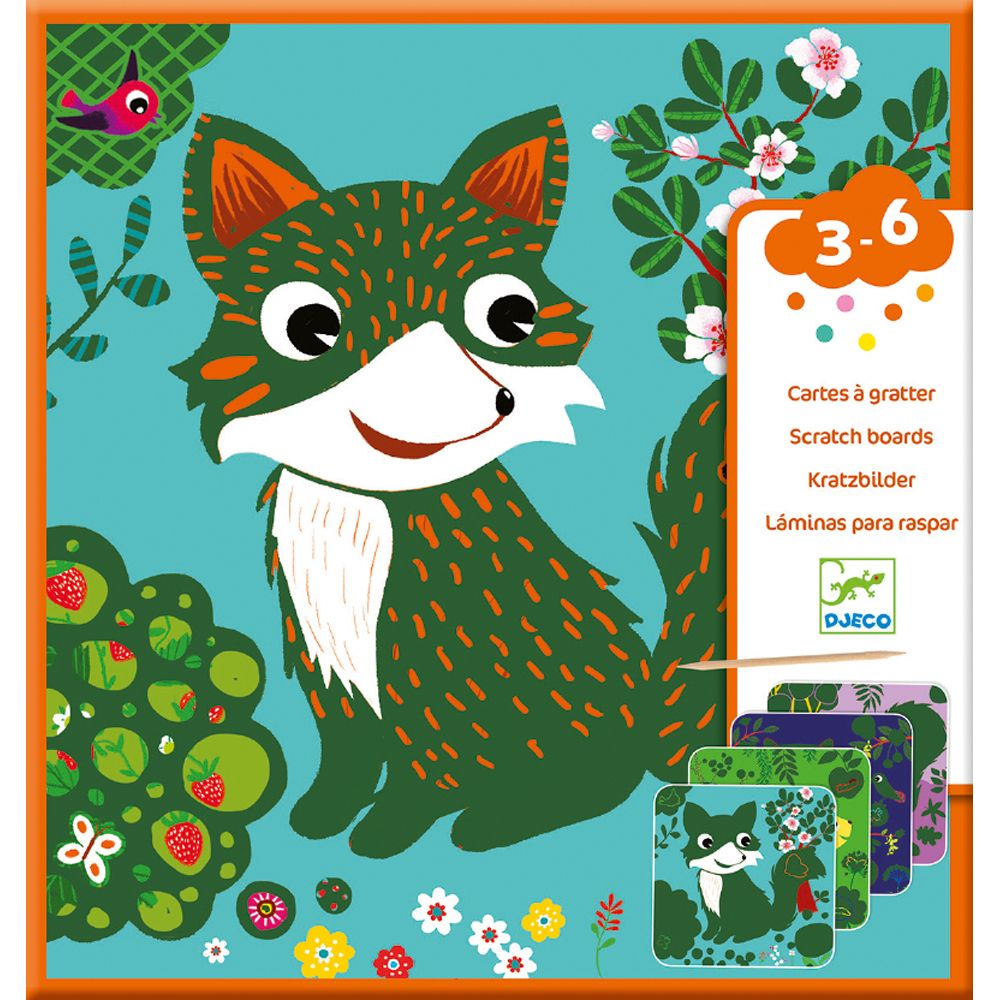 Djeco Scratch Cards for Little Ones - Country Creatures