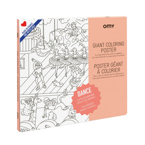 Omy Dance Giant Colouring Poster