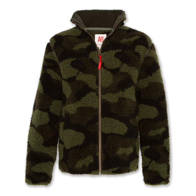 AO76 Camo Teddy Zip-Up