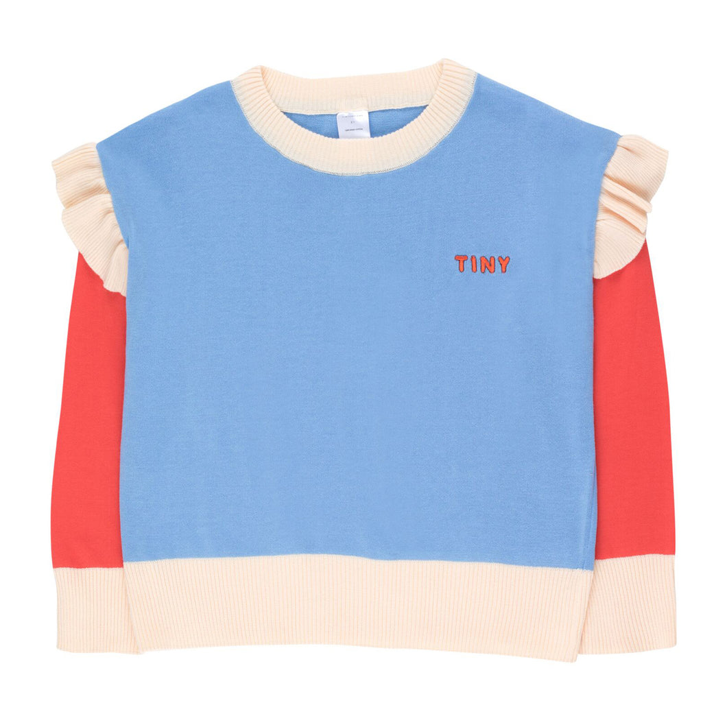 Tiny Cottons Frills Crop Sweatshirt