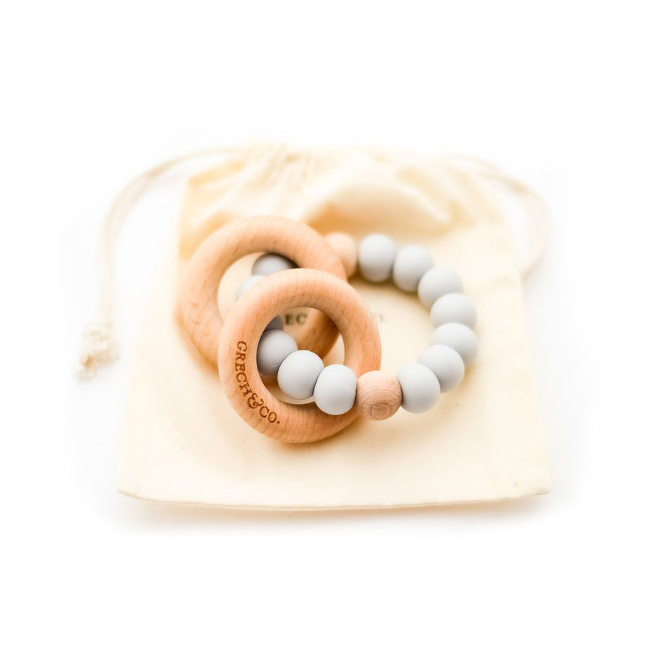 Grech & Co. Sedona Teething Ring + Rattle