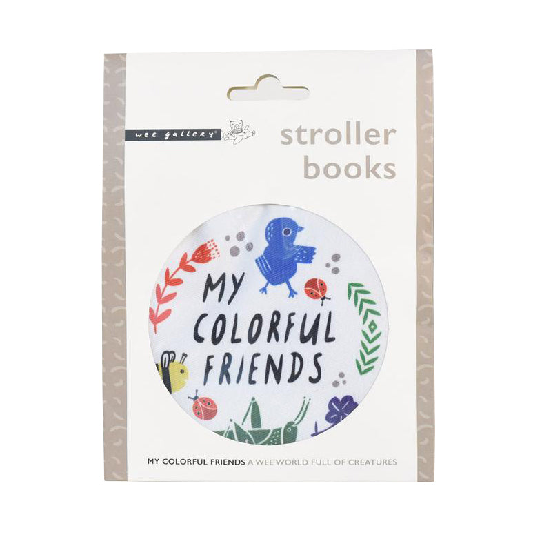 Wee Gallery Stroller Book - My Colourful Friends