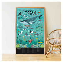 Load image into Gallery viewer, Poppik Discovery Sticker Poster Oceans