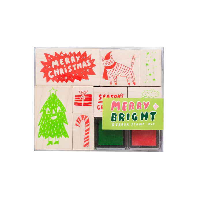 Yellow Owl Merry and Bright Stamp Kit