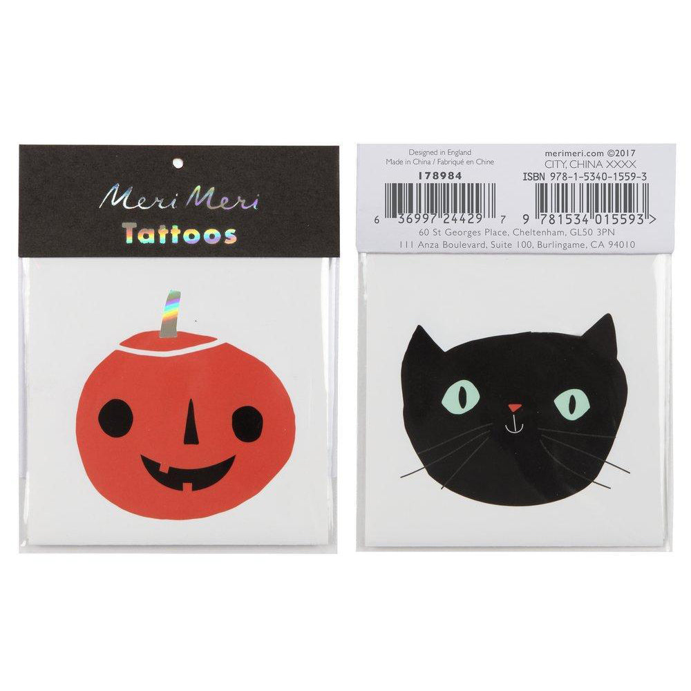 Meri Meri Pumpkin and Cat Tattoos