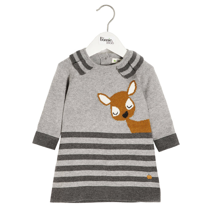 The Bonnie Mob Deer Intarsia Dress