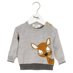 The Bonnie Mob Deer Intarsia Sweater