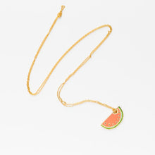 Yellow Owl Watermelon Necklace