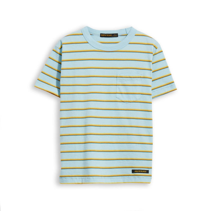 Finger In The Nose Sun Blue Stripes T Shirt