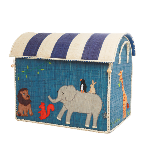 RICE Toy Basket Animal Theme