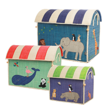 Load image into Gallery viewer, RICE Toy Basket Animal Theme
