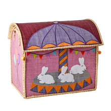 Load image into Gallery viewer, RICE Toy Basket Carousel Theme
